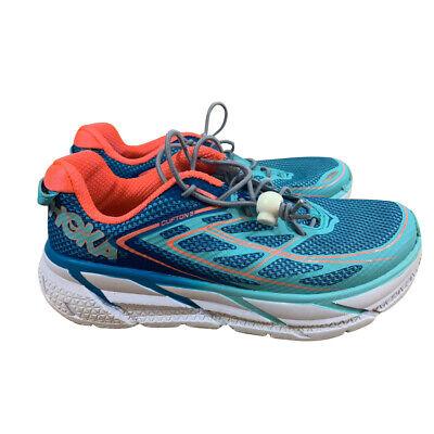 Hoka Clifton 5 Damen Laufschuhe running Sportschuhe violett lila Marlin Blue