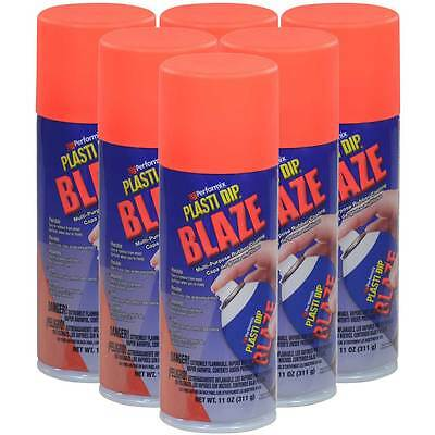 Plasti Dip Blaze Safety Cone Orange Spray Pack Of 6 - 11 Oz Cans