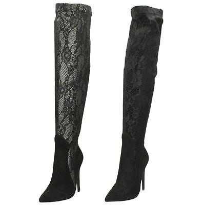 Anne Michelle F5R0006 Ladies Dark Green Block Heel Zip Up Ankle Boots 36B