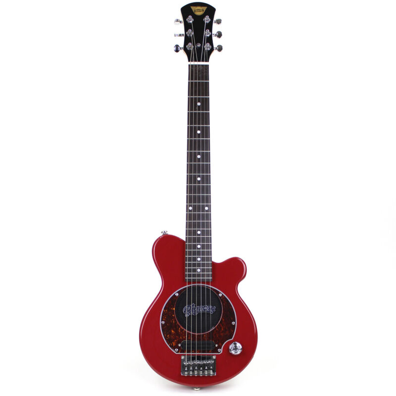 Pignose PGG-200 Mini Electric Travel Guitar w/ Built-In Amp, Candy Apply Red