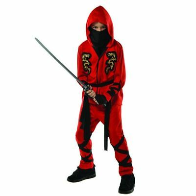 Fire Dragon Ninja Costume (Fire Dragon Red Ninja Costume Child Boys Toddler 3-4 3T)