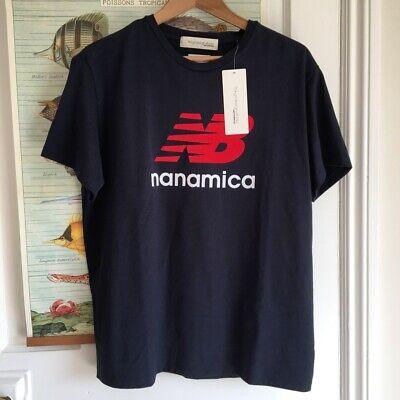 New Balance X Nanamica Logo T-Shirt Navy BNWT