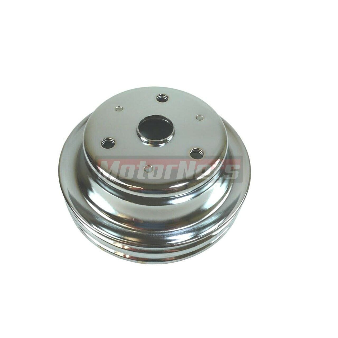 Crankshaft Pulley 3 Groove for SB Chevy 283 327 350 with Short Waterpump Chrome