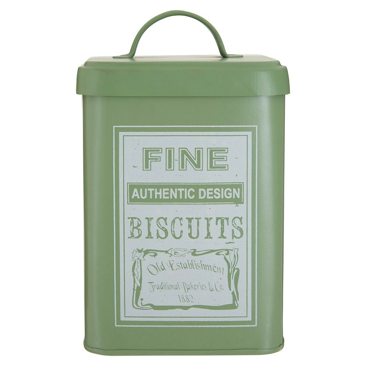 Whitby Biscuit Canister Vintage Cake Tin Metal Kitchen Food