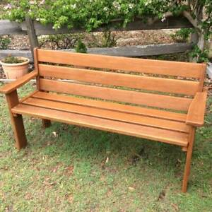 RUSTIC SOLID TIMBER GARDEN BENCH