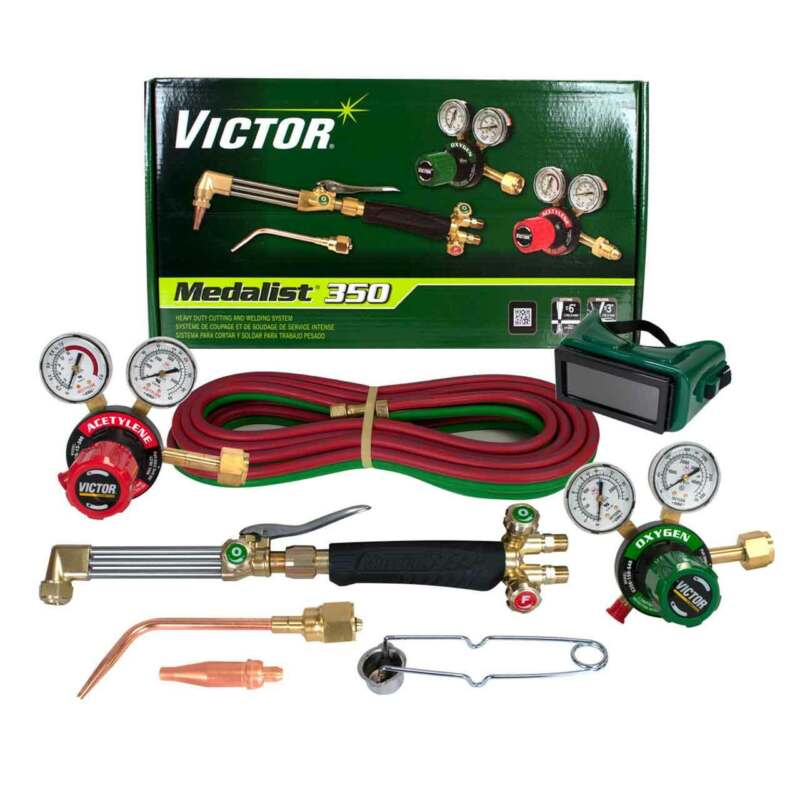 Victor 0384-2691 Medalist 350 540/300 Acetylene Cutting Torch Outfit