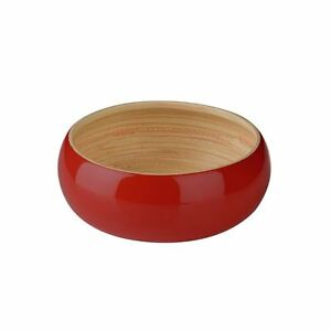 Kyoto Bowl, Spun Bamboo, Red
