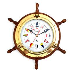 Bey-Berk 13.5 Porthole Clock