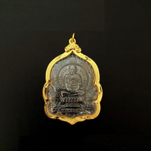 Phra LP Ruay Talisman Pendant Gold Plated b.e.2555 Wat Tako Thai Buddha Amulet