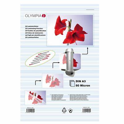 OLYMPIA Laminierfolie 25 X DIN A3 80 Mikron