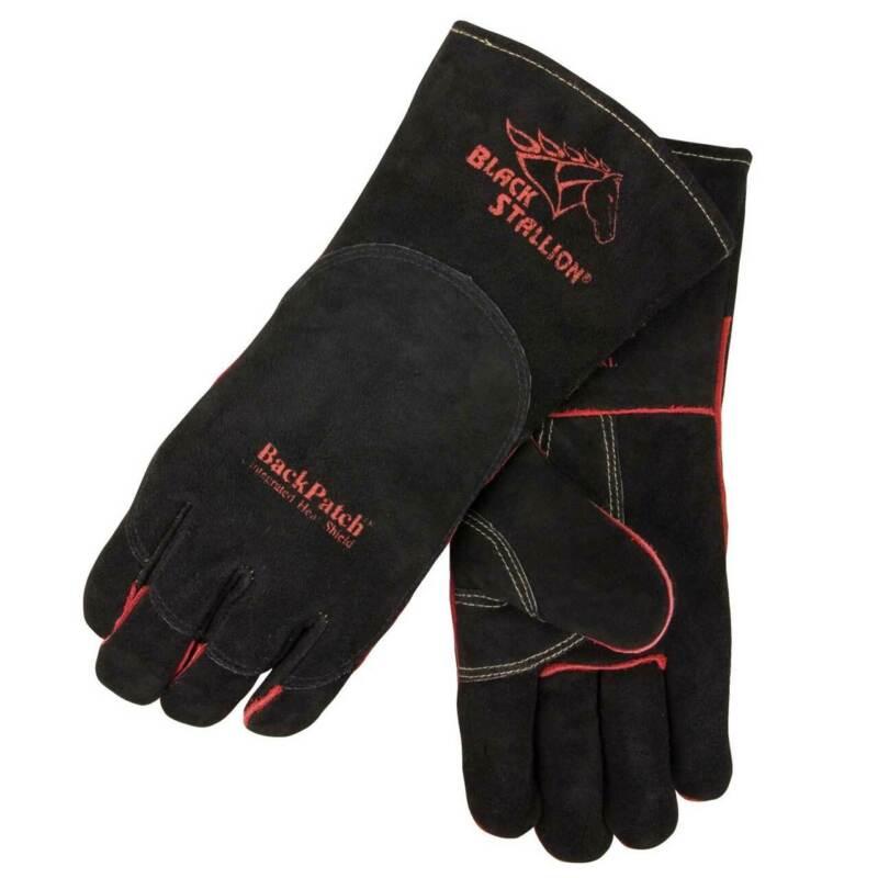 Black Stallion 360 Split Cowhide Stick Welding Glove with Heat Shield Medium