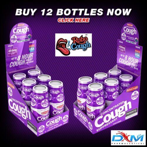 RoboCough™ Pack of 12 Bottles, 450mg DXM Per Bottle - GRAPE Flavor!