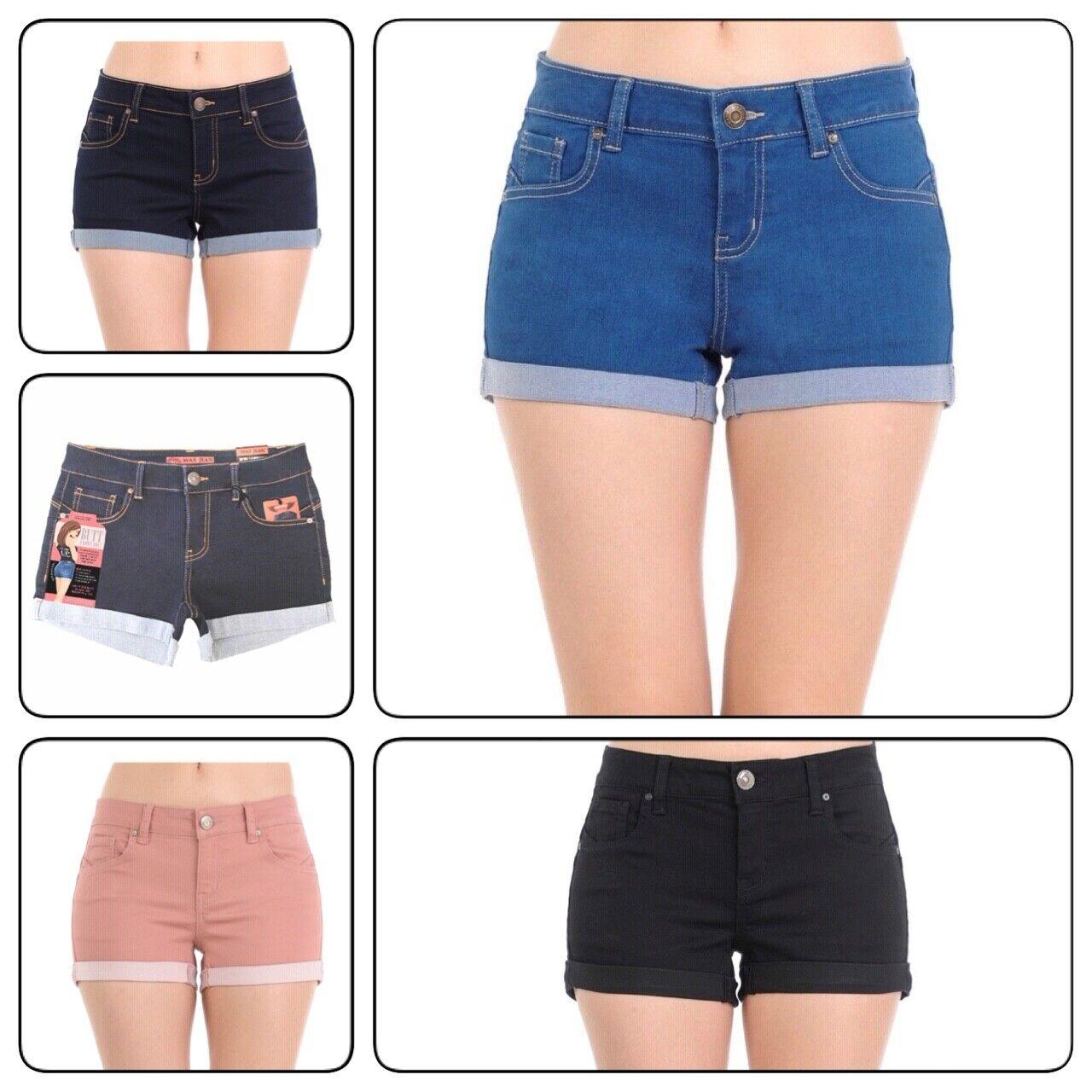 Plus Size Wax Women's  Denim Shorts Push-up Short Pants