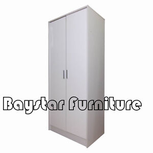 Brand New Wooden Wardrobe White Colors 2 Doors with Mirror Melbourne CBD Melbourne City Preview