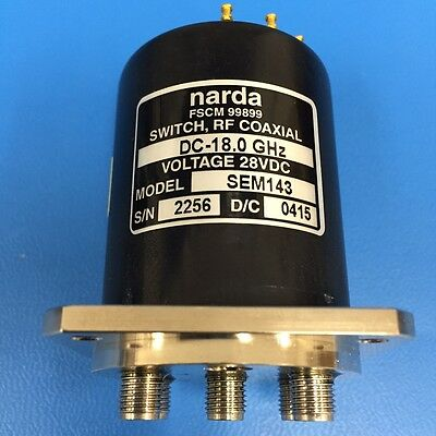 Narda Sem143 Rf Coaxial Switch Dc-18 Ghz