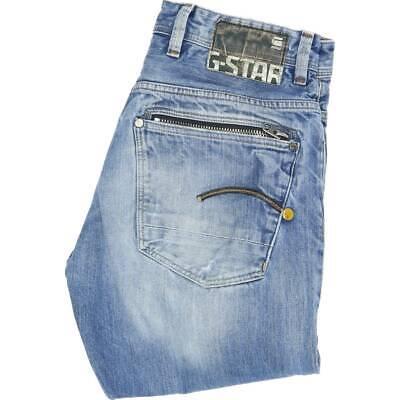 G-Star Attacc Men Blue Straight Loose Jeans W32 L33 (45605) gebraucht kaufen  Versand nach Germany