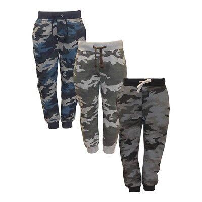 Boy's and Girl's Adjustable Waist Camo Jogging Bottom Sweatpants