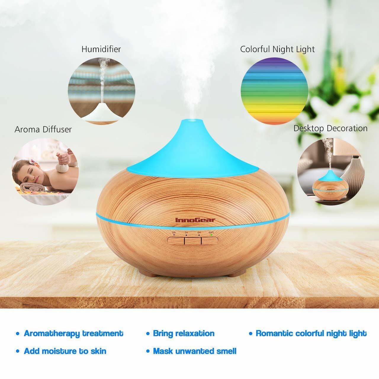 300ml air humidifier purifier essential oil aroma