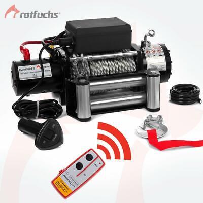 ROTFUCHS® Elektrische Seilwinde 13000lbs 5909kg 12V Offroad Motorwinde Seilzug