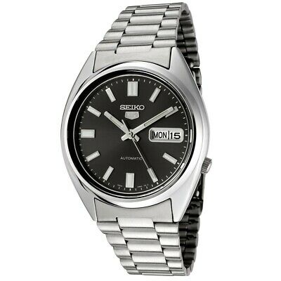 Seiko 5 SNXS79 Automatic Black Dial Stainless Steel Mens Watch