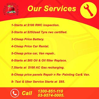 Cheap Price Car & Van Repair n RWC Inspection provide