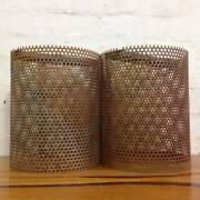 Pair of Industrial Steel Mesh Light Shades - Pendants Brunswick Moreland Area Preview
