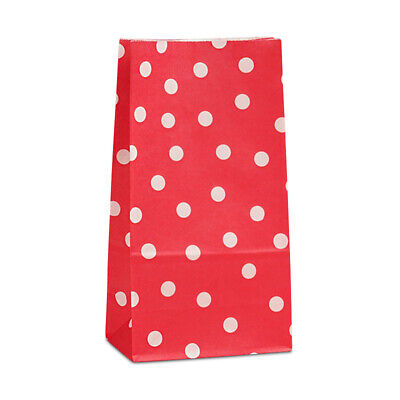 Red And White Gift Bags (24pk Red and White Polka Dotted Gift Bags Candy Favor Bags Minnie Mouse Theme)