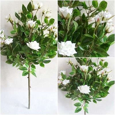 ß 53cm Kunstbaum künstlicher Baum Dekobaum Kunstpflanze Rose (Künstliche Rote Rosen)