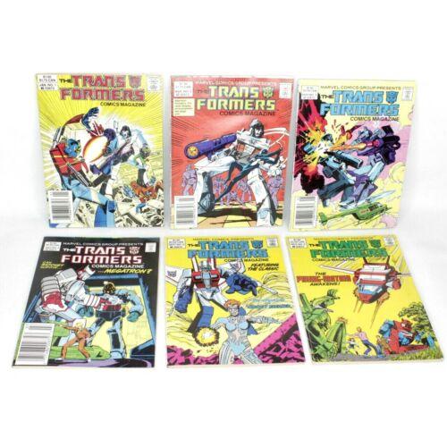 The Transformers Comics Magazine Digest #1 2 3 4 5 6 Run Lot 1987 Marvel