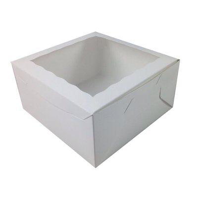 Black Cat Avenue 10 X 10 X 5 White Window Cake Boxes Disposable Pie Bakery