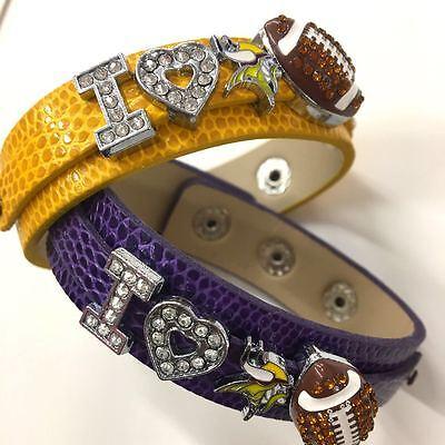 Minnesota Vikings Charm (Minnesota Vikings Fan Bracelet / Vikings Jewelry / Vikings Gift / Vikings)