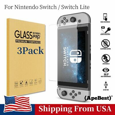 3pcs Screen Protector Tempered Glass Clear Anti-Scratch For Nintendo Switch Lite