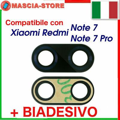 LENTE Cover Obiettivo Vetro Vetrino Retro Fotocamera XIAOMI REDMI NOTE 7 / PRO