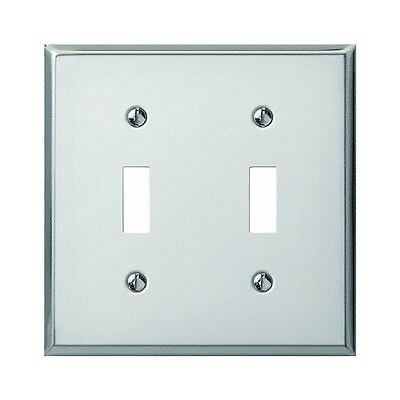 Creative Accents Polished Chrome Steel 2 Toggle Switch Decorative Wall Plate USA Accent Wall Plates Decorative Steel