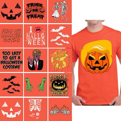 Halloween T Shirt for men Trumpkin Shirt Trick or Treat Pumpkin Halloween Bats