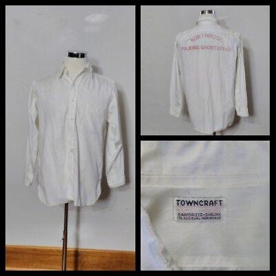 1940s Men's Shirts, Sweaters, Vests Towncraft Shirt Men's Lg. 1940's Sanforized Gussets Milking Shorthorns Inv#S8379 $150.00 AT vintagedancer.com