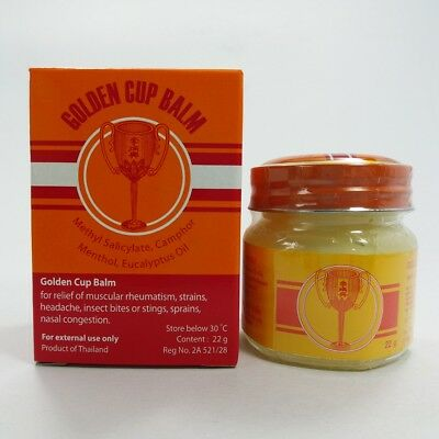 22 g Yellow Golden Cup Balm Baume Best Thai Massage Ointment Relieve Muscle