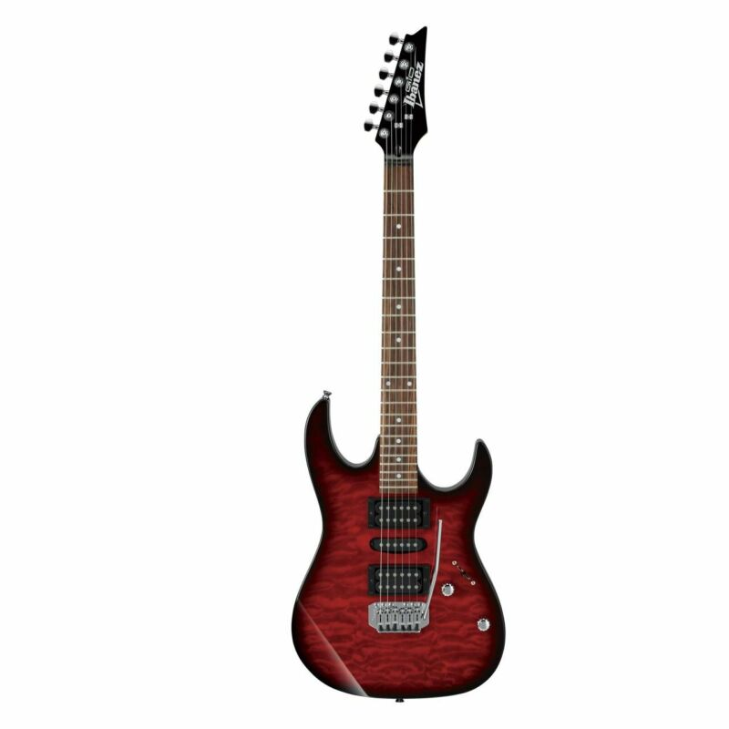 IBANEZ GRX70QA-TRB E-Guitar IN Transparent Red Burst