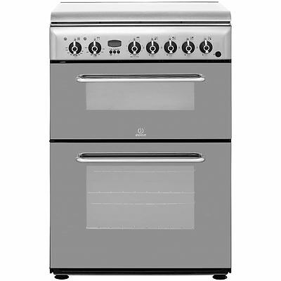 Indesit KDP60SES Free Standing Dual Fuel Cooker with Gas Hob 60cm Stainless