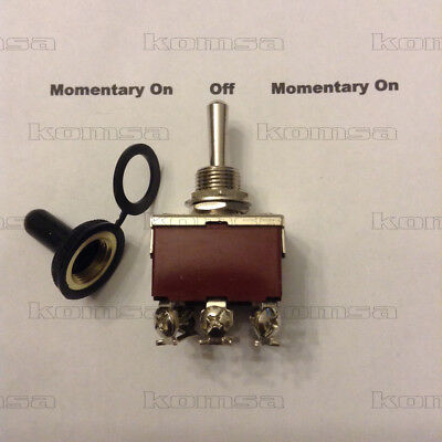 3 Position Momentary On - Off - Momentary On Toggle Switch 8025