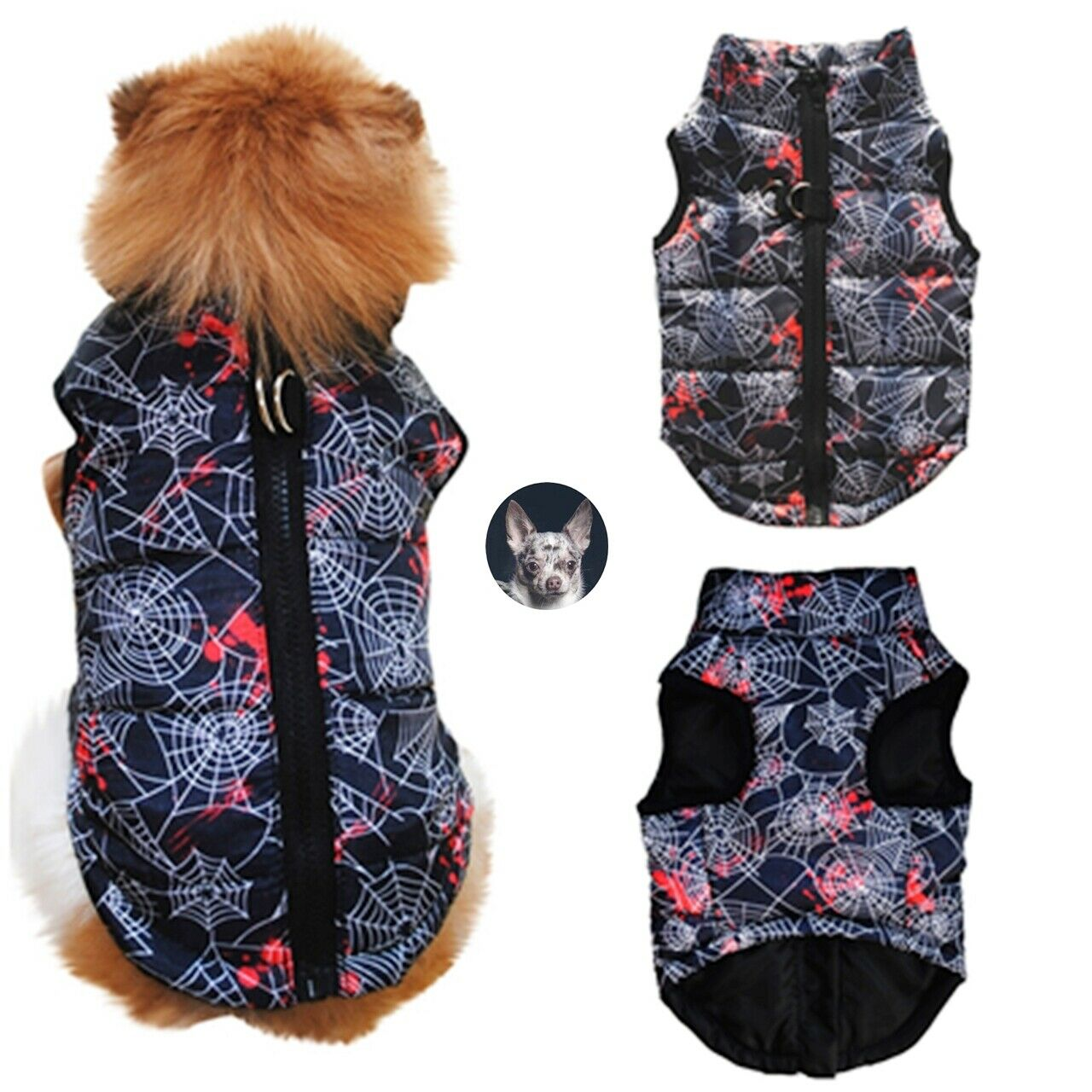 Hundeweste Softgeschirr Mantel Welpe Jacke Winter Chihuahua Pullover XS-L