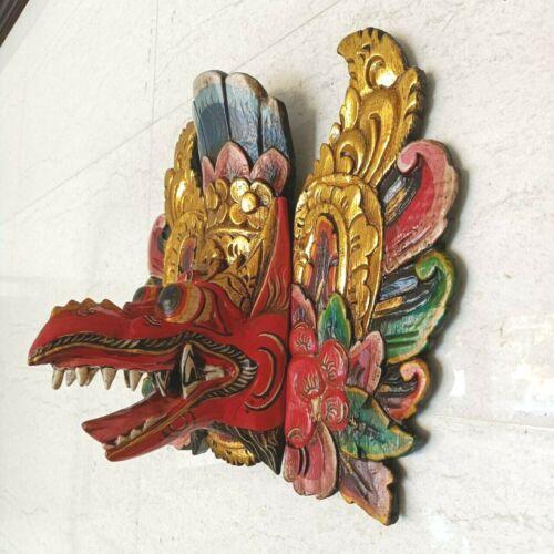 Garuda Indonesia Bali Mask Barong Topeng Wooden Hand Craft Painting Full Colour