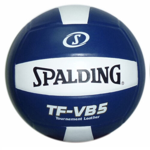 Spalding TF-VB5 Tournament Leather Volleyball Royal Blue/White