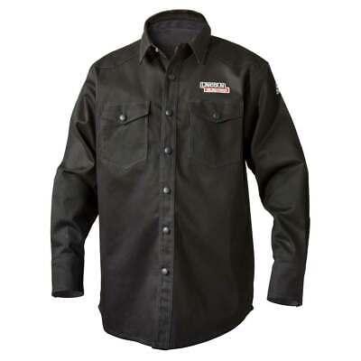 Lincoln Electric K3113 9 Oz. Fr Black Welding Shirt Large