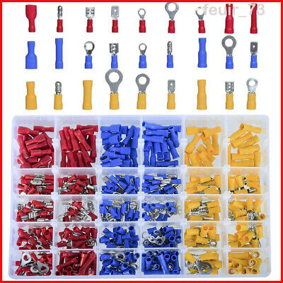 Assorted Insulated Electrical Wire Terminals Crimp Connectors Spade Set 480Pcs
