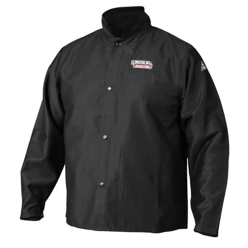 Lincoln Electric K2985 Traditional FR Cloth Welding Jacket, Large