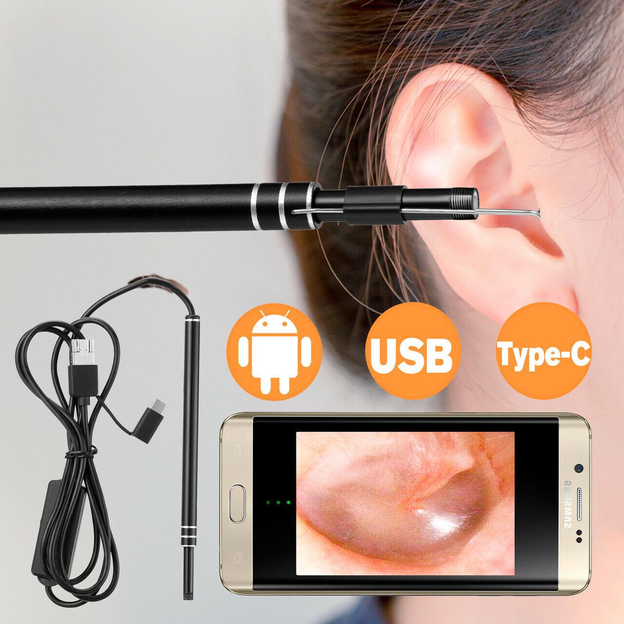 Led Endoscope Otoscope Ear Camera Scope Earwax Removal Kit E