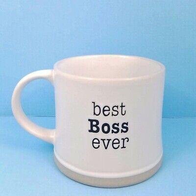 Coffee Mug Cup Best Boss Ever Blue Sky Spectrum 17oz 483ml Pen or Pencil
