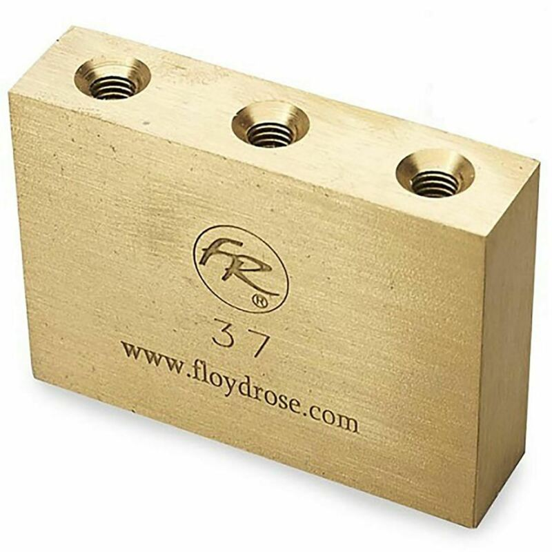 Floyd Rose FROFTB37 Original Fat Brass Tremolo Sustain Block, 37mm