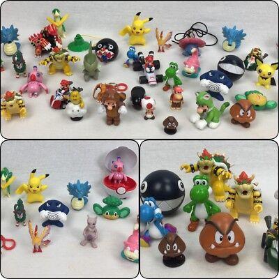 Nintendo & Pokemon Assorted Action Figure LOT Mario Yoshi Pikachu Charizard +HTF